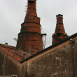 Ancient kilns in a building of industrial archaeology for the pr — Stock Photo