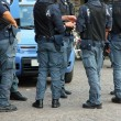 Italian policemen with bulletproof and armored jacket during a r — Stock Photo