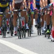 Stock Photo: Cyclists with sports during abbiglaimento during challenging r