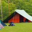 Scout camp open air in the middle of nature — Stock Photo