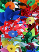 Colorful pinwheels for sale in toy store — Stock Photo