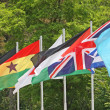 Set of coloured flags of many nations of the world — Stock Photo