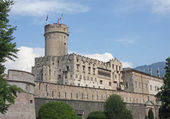 Fabulous Castle in the city centre of Trento — Stock Photo