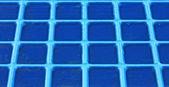 Regular blue grid background in very heavy metal — Stock Photo
