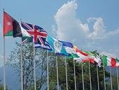 一组在世界许多国家的彩色标志 — 图库照片