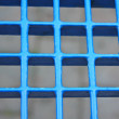 Regular blue grid background in very heavy metal — Stock Photo