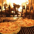 Excellent fragrant pizza baked in a wood fireplace 1 — ストック写真