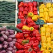 Boxes full of fresh fruits and vegetables at market 2 — Stock Photo #29727055