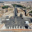 Incredible view of the city of Rome from above the dome of the C — Photo