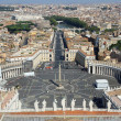 Incredible view of the city of Rome from above the dome of the C — ストック写真