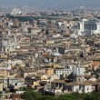 Panoramic view of the city of Rome from above the dome of the Ch — Stock Photo #30525081