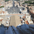 Panoramic view of the city of Rome from above the dome of the Ch — Stock Photo #30525083