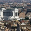 Italian national monument to Vittorio Emanuele II in Rome in pia — Stock Photo