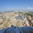 Panoramic view of the city of Rome from above the dome of the Ch — Stock Photo #30525133