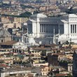 Vittoriano monument dedicated to Vittorio Emanual II King — Stock Photo