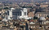 Italská národní památník vittorio emanuele ii, v římě v pia — Stock fotografie