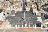 Breathtaking panoramic view of St. Peter's square in Vatican Cit — Stockfoto