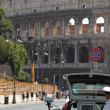 Police patrol for speed control in Rome — Stock Photo #30580173