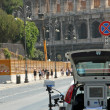 Police patrol for speed control in Rome 2 — Stock Photo