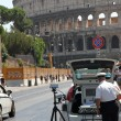Police patrol for speed control in rome — Stock Photo #30580181
