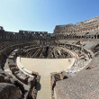 Suggestive steps Colosseum where ancient Romans were present — Stock Photo #30580295