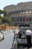 Police patrol for speed control in rome — Stock Photo