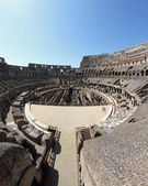 Suggestive steps the Colosseum where ancient Romans were present — Stock Photo