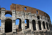 Fascinating and spectacular facade of the Colosseum — Stock Photo