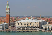 Piazza san marco in Venice with the high Bell Tower 3 — Stock Photo