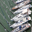 Luxurious yachts and motor boats moored in the prestigious Harbo — Stock Photo