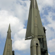 Two missiles with a nuclear warhead ready to launch — Stock Photo