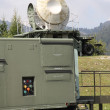 Military radar to search for enemy airplane — Stock Photo