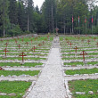 Old Austrian Cemetery from World War I in the middle of the fore — Stock Photo