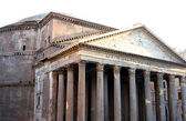 Roman temple called the PANTHEON in Rome outside — Stock Photo