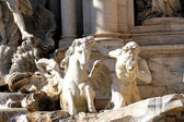Fountain of trevi in Rome with the horse tamed statue symbolizin — Stock Photo