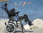 Wheelchair for disabled people — Stock Photo