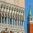 High Bell Tower of San Giorgio and the glorious  Palazzo ducale — Stock Photo