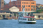 Vaporetto in Venice for the transportation of tourists — Stock Photo