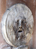 Bocca della Verita photographed from oblique in Rome italy — Stock Photo