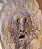 Mask called mouth of Truth in Rome italy — Stockfoto