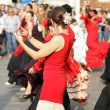 Flamenco dancers expert and Spanish dance — Stock Photo