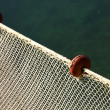 Net intact without fish but with some floats on edge — Stock Photo #32124637