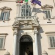 Stock Photo: Majestic entrance of Quirinale palace where houses Presi
