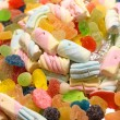 Tasty candy Gummy cake and candy sweets — Stock Photo