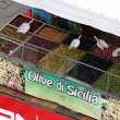 Stock Photo: Olives in spicy vegetable market sales