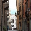 Road in the city of Vicenza in Northern Italy — Stock Photo