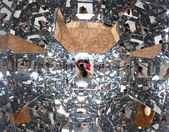 Photographer with a thousand mirrors while running a self-timer — Foto de Stock