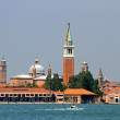 Historic Bell Tower of the Church of San Giorgio near Venice — Stock Photo #32592429