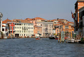 Historical prestigious palaces of the Republic of Venice on the — Stock Photo