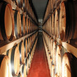 Barrels of a cellar where to mature the wine and grappa 4 — Stock Photo